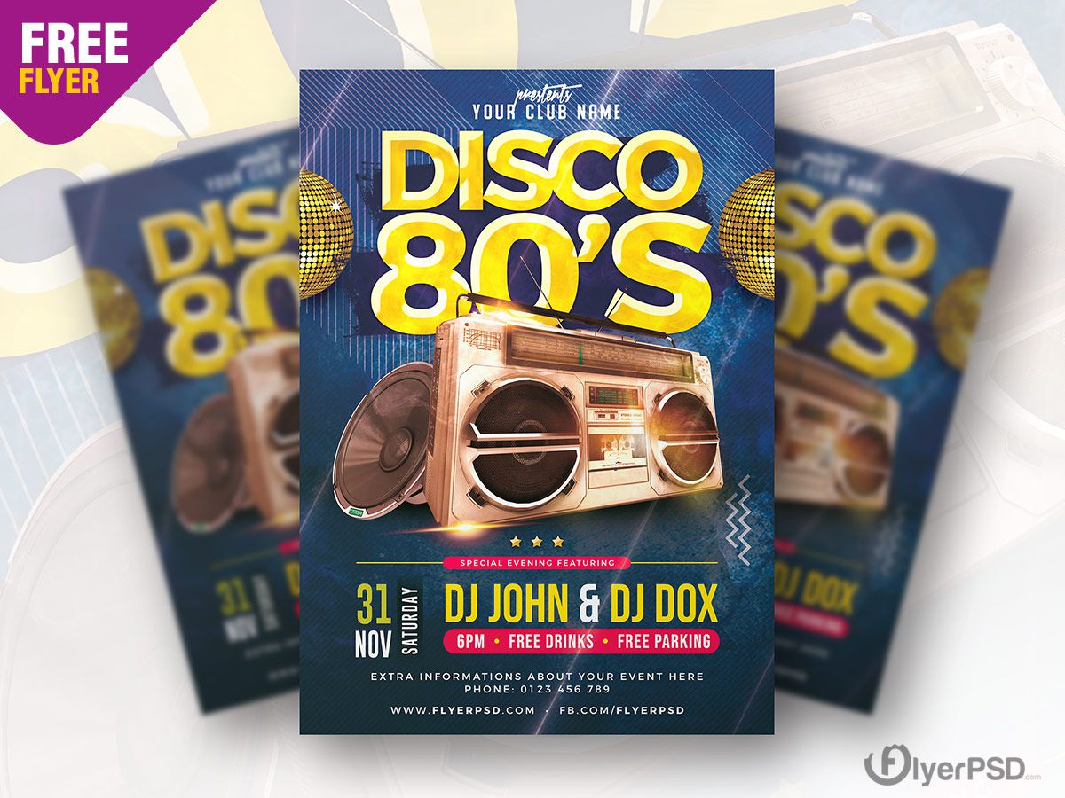 003 Archaicawful Free School Disco Flyer Template Inspiration  Templates PosterFull