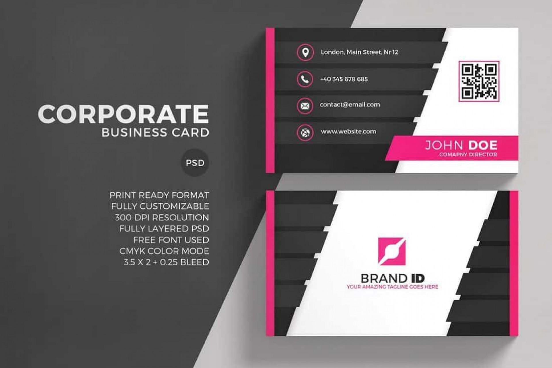 003 Archaicawful Free Simple Busines Card Template Word High Resolution 1920