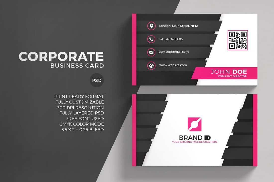003 Archaicawful Free Simple Busines Card Template Word High Resolution Full
