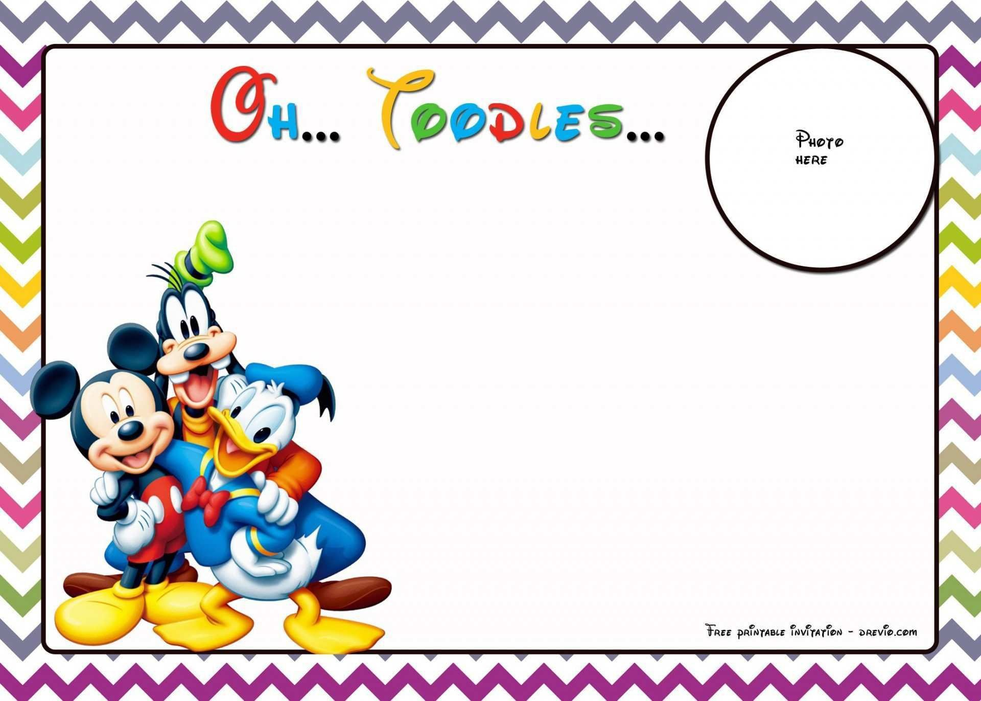 003 Archaicawful Mickey Mouse Invitation Template Photo  Templates Clubhouse Birthday Free 1st Download1920