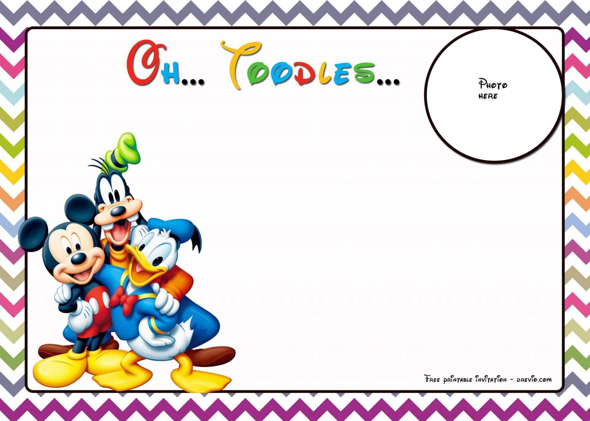 003 Archaicawful Mickey Mouse Invitation Template Photo  Templates Clubhouse Birthday Free 1st DownloadFull