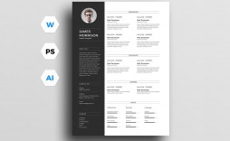 003 Archaicawful Photoshop Cv Template Free Design  Modern Psd Resume Download