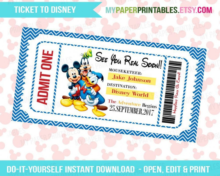 003 Archaicawful Print Ticket Free Template Example  Your Own