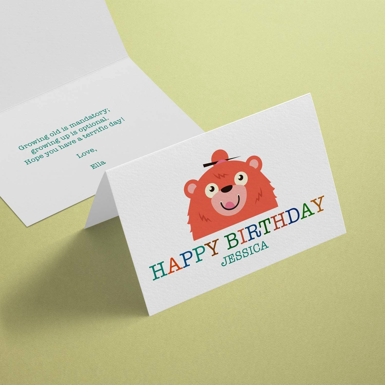 003 Archaicawful Quarter Fold Greeting Card Template Word Idea Full