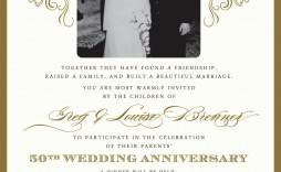 003 Astounding 50th Wedding Anniversary Invitation Template High Resolution  Templates Card Sample Golden