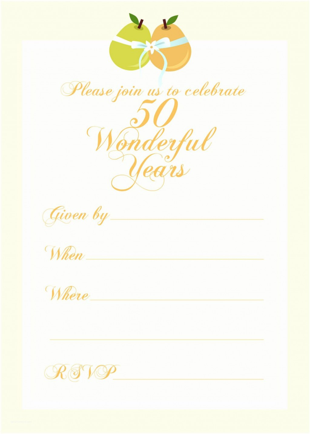 003 Astounding 50th Wedding Anniversary Invitation Template Inspiration  Templates Golden Uk Free DownloadLarge