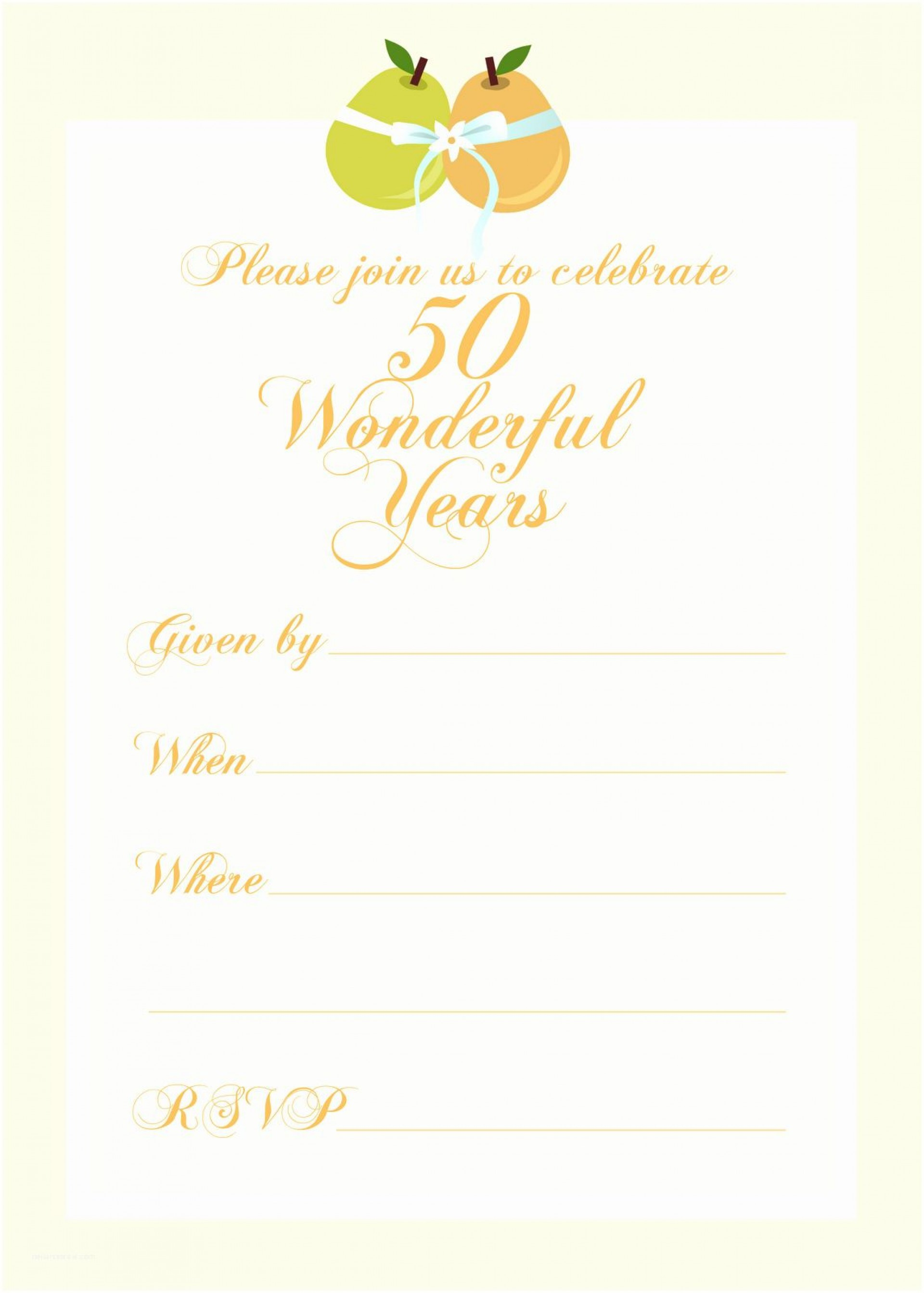 003 Astounding 50th Wedding Anniversary Invitation Template Inspiration  Templates Golden Uk Free Download1920
