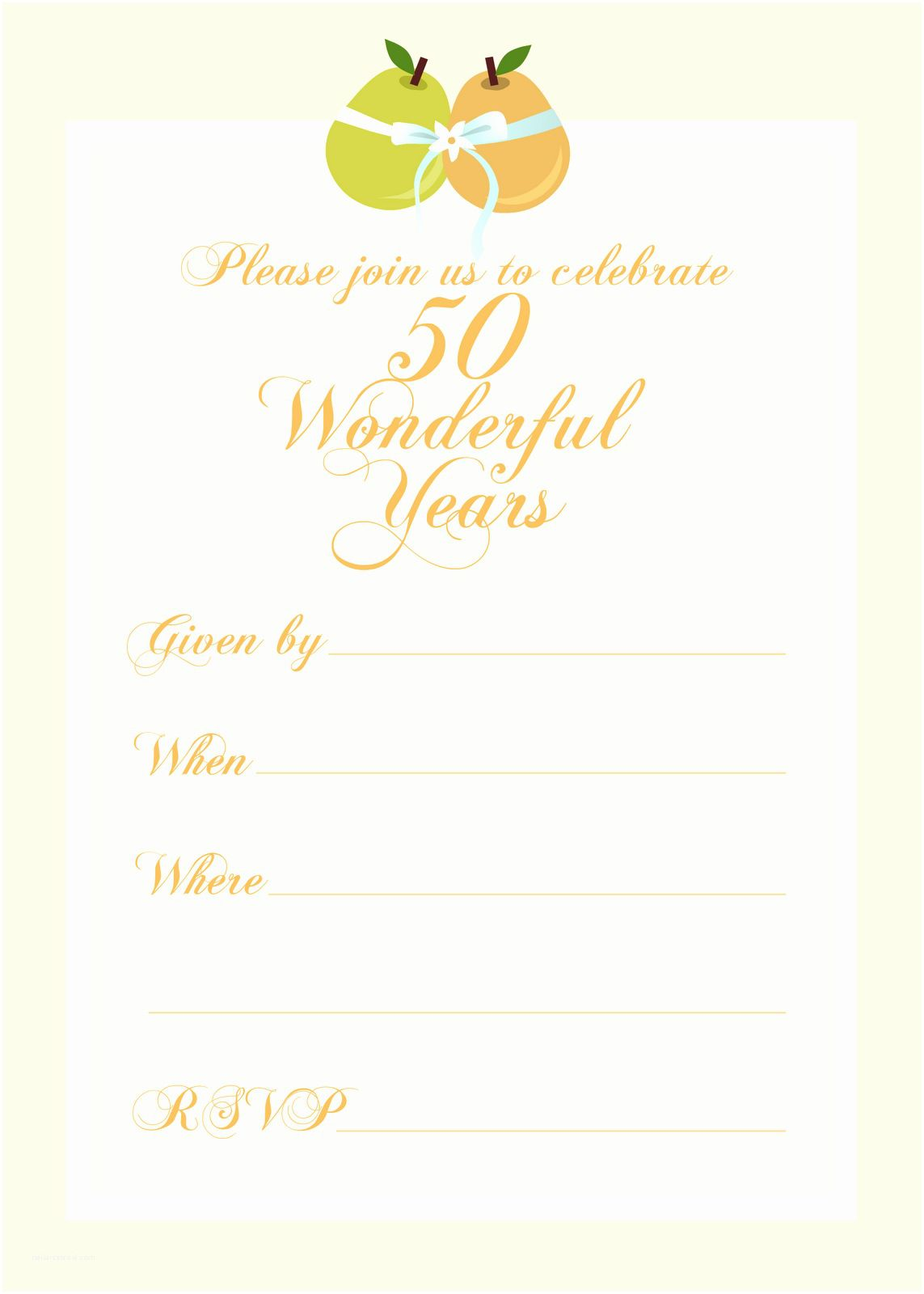 003 Astounding 50th Wedding Anniversary Invitation Template Inspiration  Templates Golden Uk Free DownloadFull