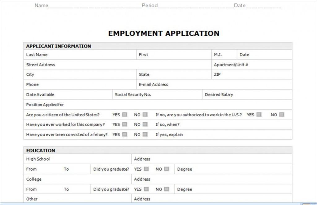 003 Astounding Employment Application Form Template M Word Photo  Job Microsoft DescriptionLarge
