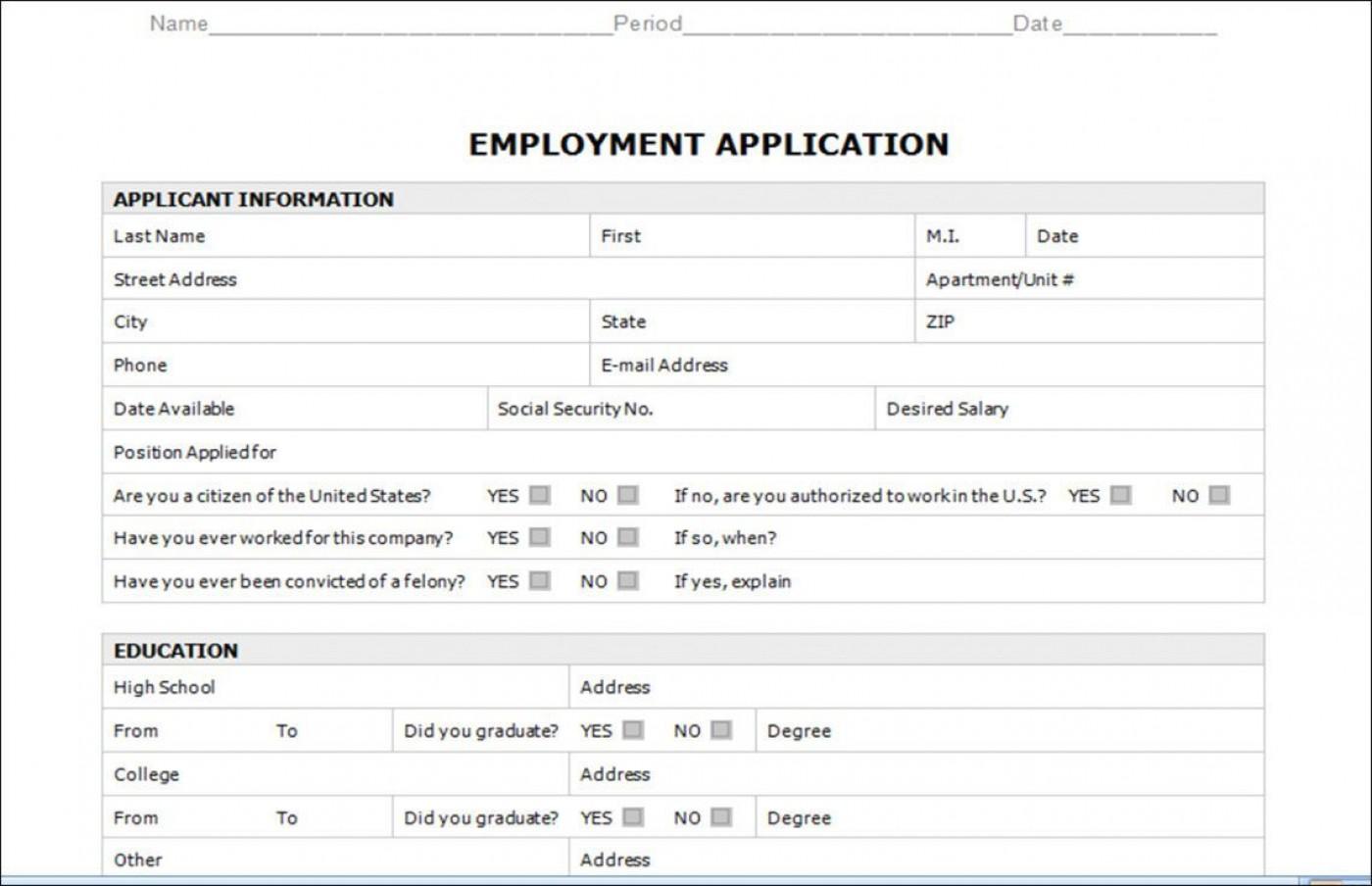 003 Astounding Employment Application Form Template M Word Photo  Job Microsoft Description1400
