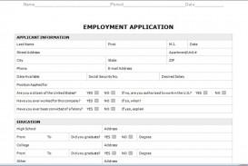 003 Astounding Employment Application Form Template M Word Photo  Job Microsoft Description