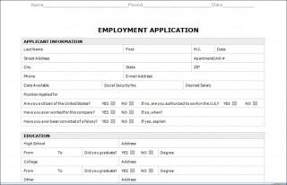 003 Astounding Employment Application Form Template M Word Photo  Job Microsoft Description320
