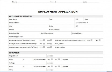 003 Astounding Employment Application Form Template M Word Photo  Job Microsoft Description480