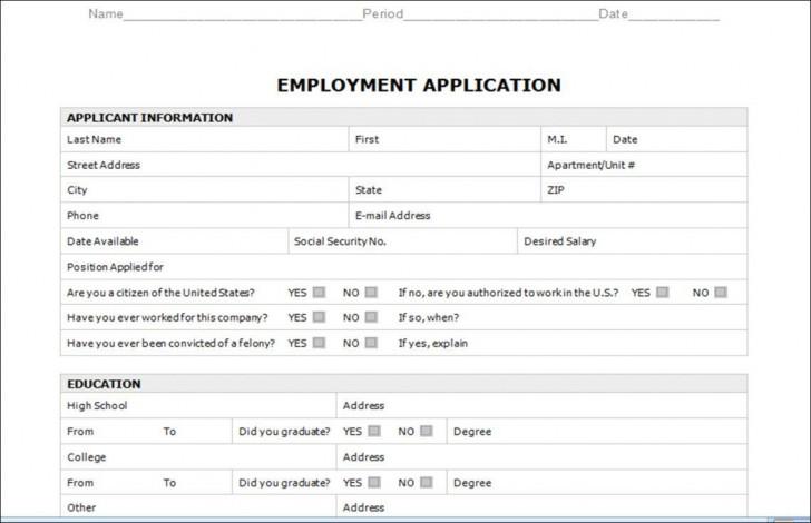 003 Astounding Employment Application Form Template M Word Photo  Job Microsoft Description728