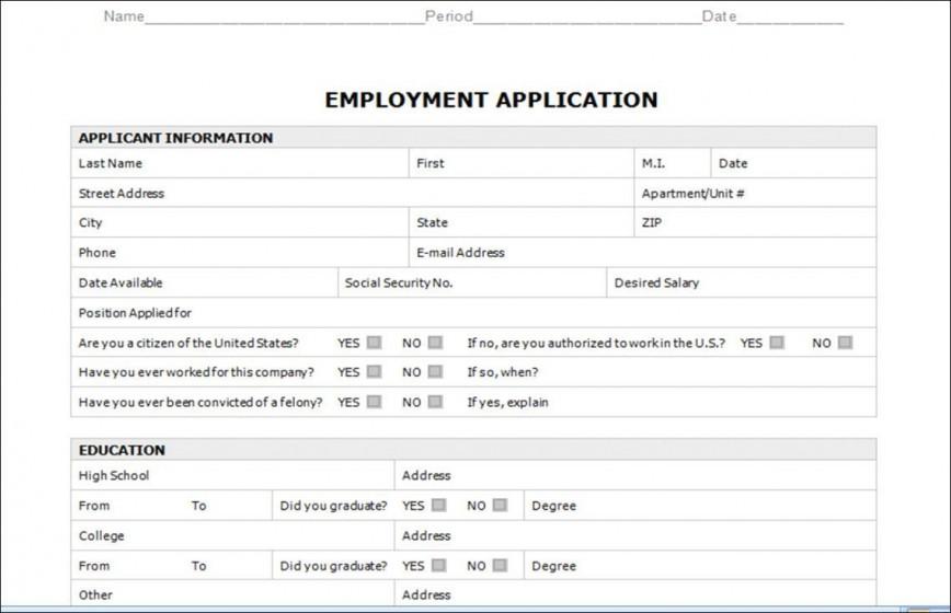 003 Astounding Employment Application Form Template M Word Photo  Job Microsoft Description868