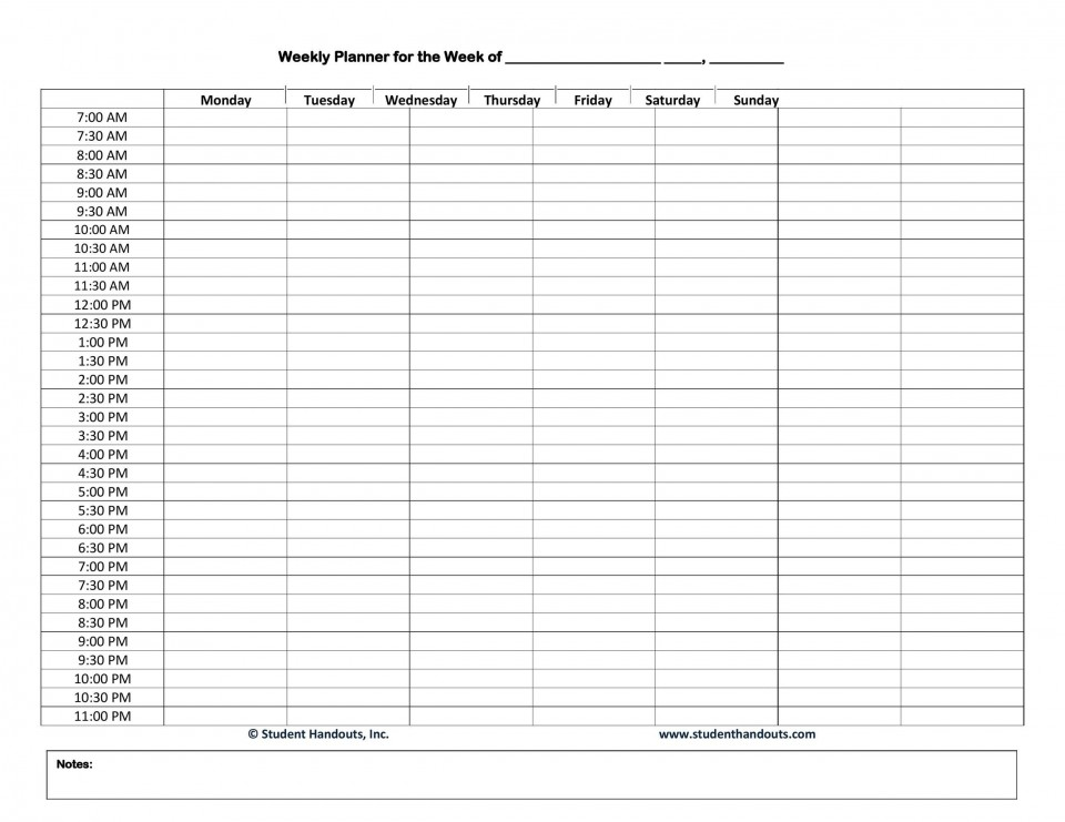 003 Astounding Free Hourly Schedule Template Word Sample 960