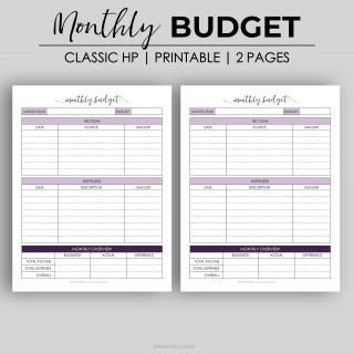 003 Astounding Free Monthly Budget Template Design  Household Excel Expense Report Download320