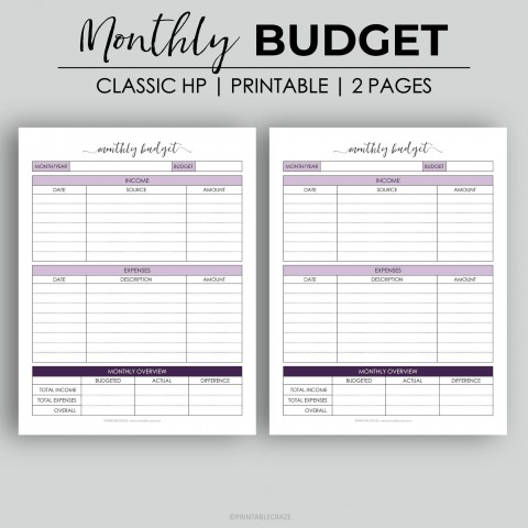003 Astounding Free Monthly Budget Template Design  Household Excel Expense Report Download480