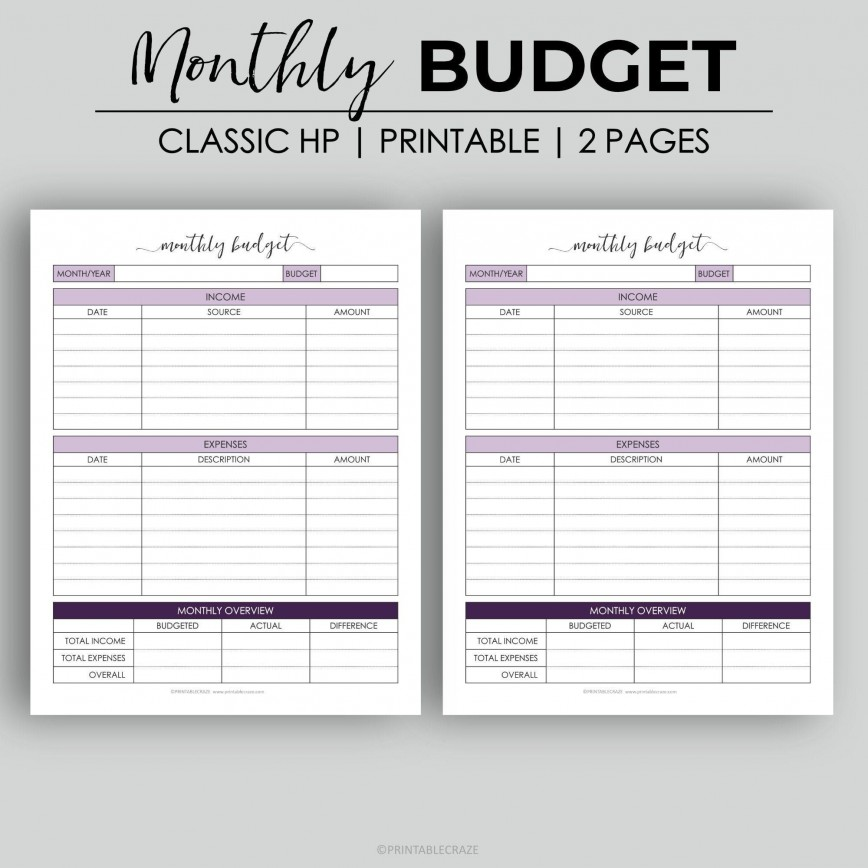 003 Astounding Free Monthly Budget Template Design  Household Excel Expense Report Download868