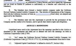 003 Astounding Free Operating Agreement Template Image  Pdf Missouri Llc