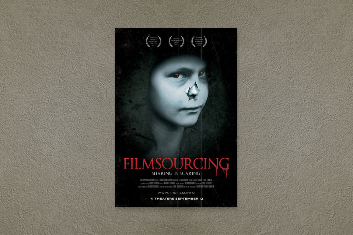 003 Astounding Free Photoshop Movie Poster Template Concept  TemplatesFull