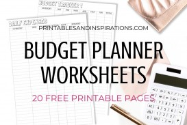 003 Astounding Free Printable Home Budget Form Image  Template