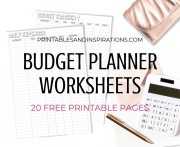 003 Astounding Free Printable Home Budget Form Image  Spreadsheet Template360