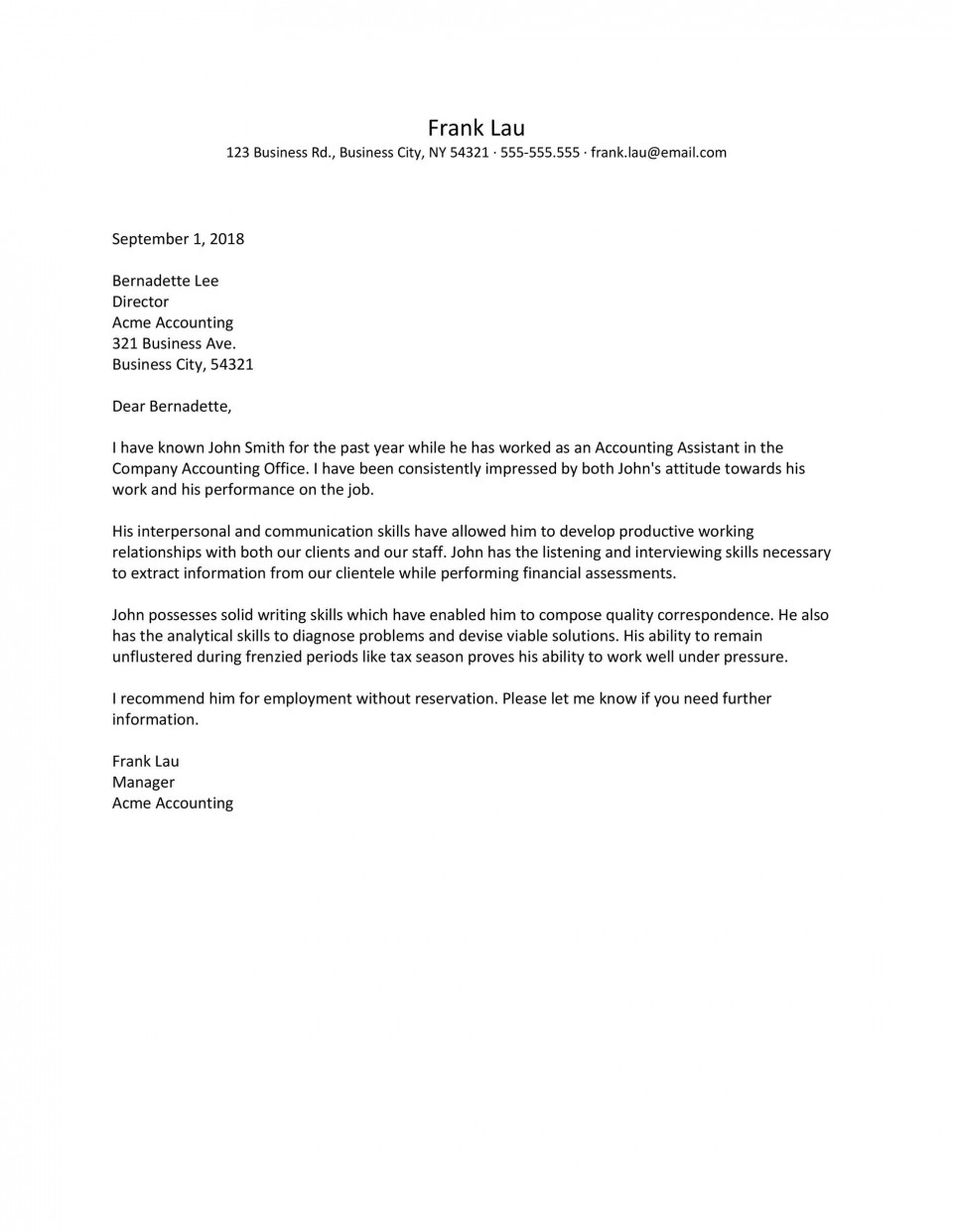 003 Astounding Free Reference Letter Template From Employer Picture  For Employment Word960