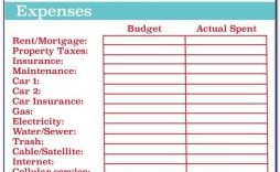 003 Astounding Free Simple Monthly Household Budget Template High Definition