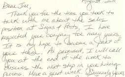 003 Astounding Handwritten Thank You Note After Interview Template Sample