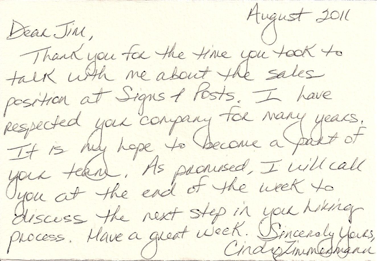 003 Astounding Handwritten Thank You Note After Interview Template Sample Full