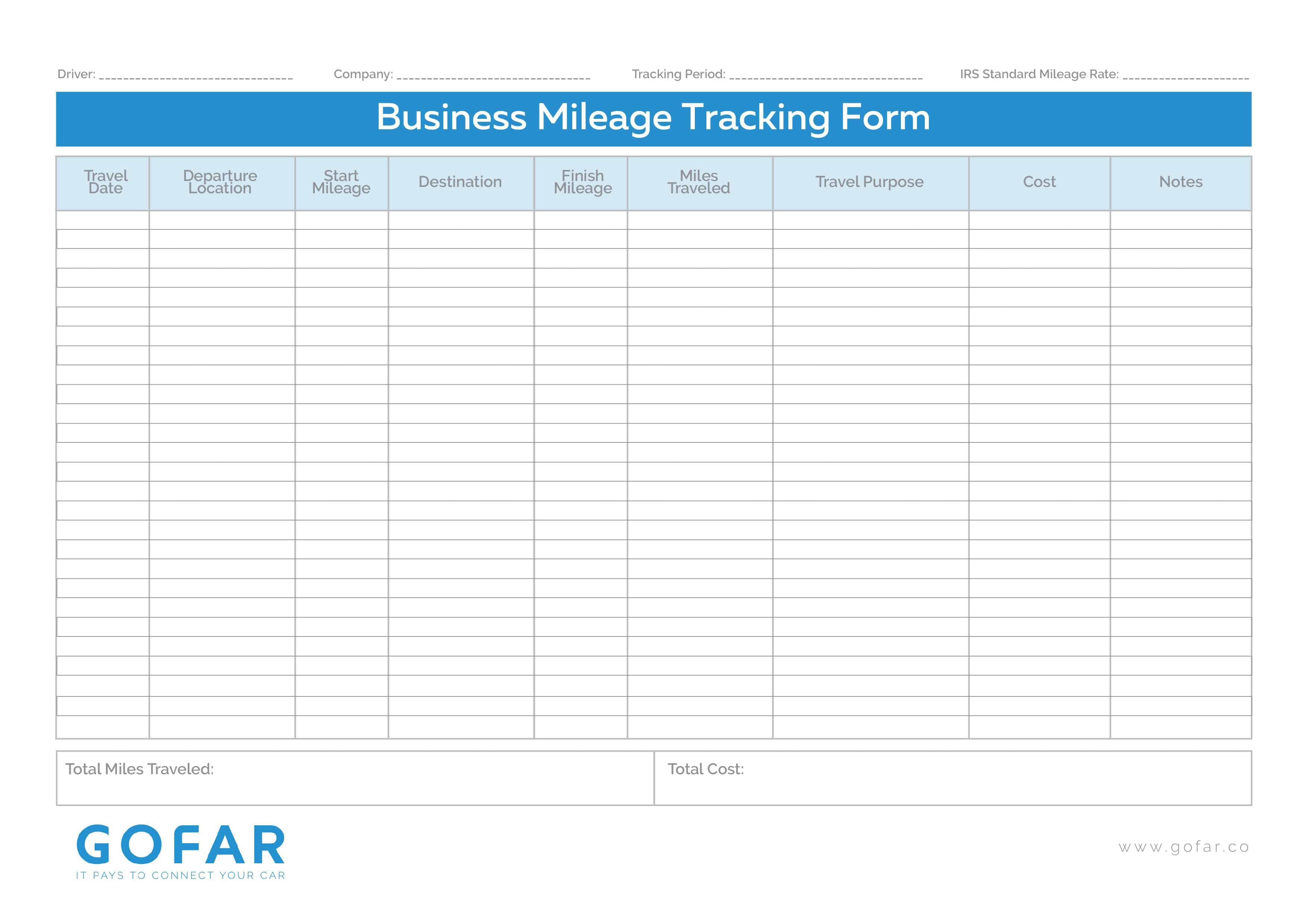 003 Astounding Mileage Tracking Excel Template Sample Full