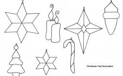 003 Astounding Printable Christma Ornament Template Inspiration  Templates Stencil Felt Pattern Tree