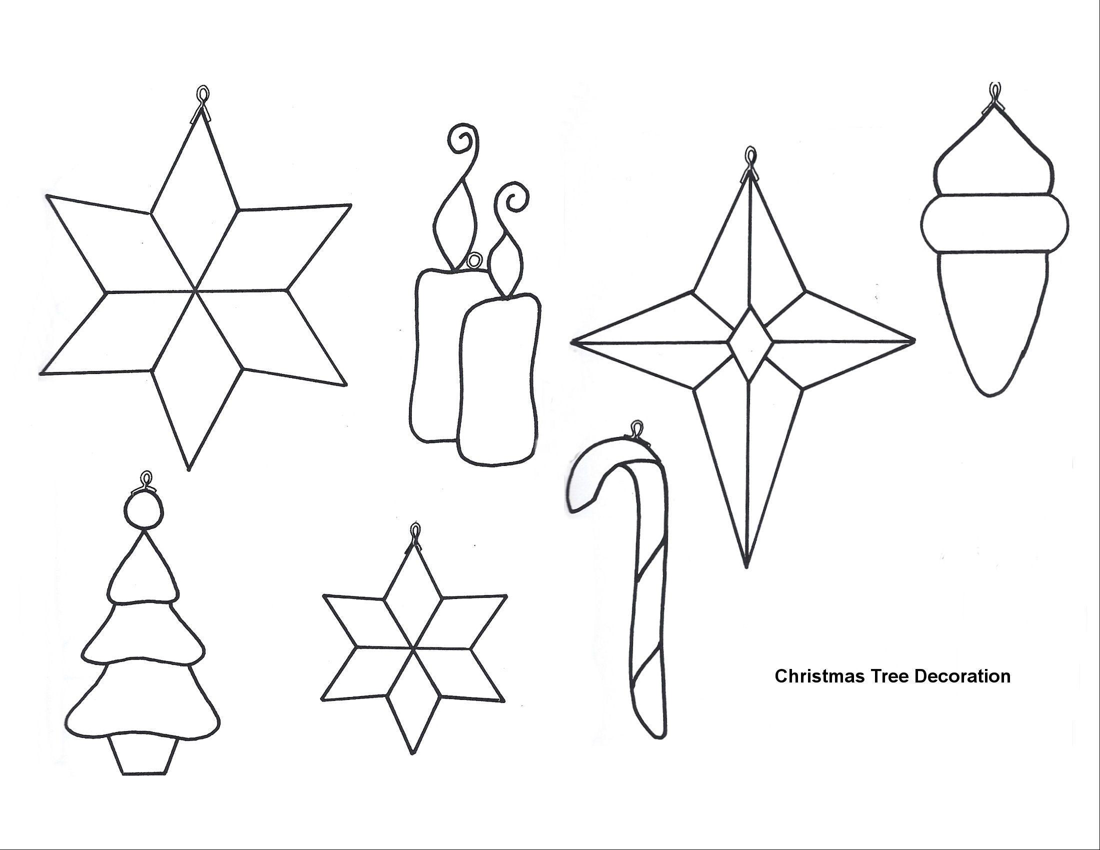 003 Astounding Printable Christma Ornament Template Inspiration  Templates Stencil Felt Pattern TreeFull