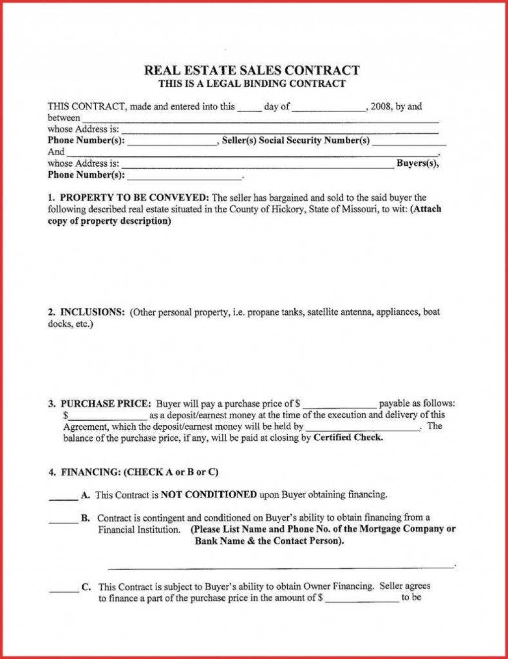 003 Astounding Real Estate Purchase Contract California Picture  Commercial Agreement PdfLarge