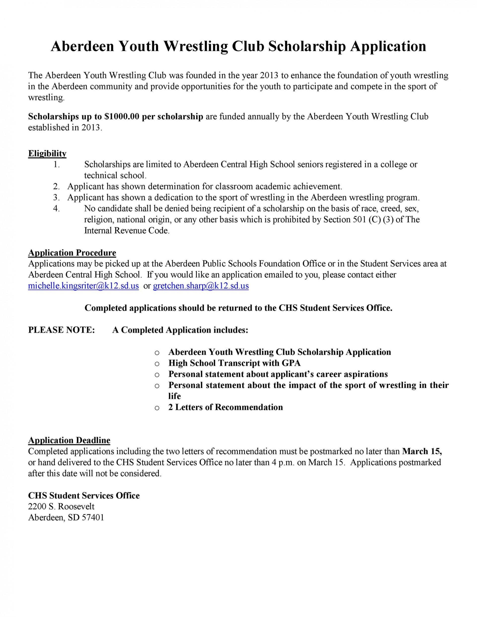 003 Astounding Scholarship Application Template Word Idea  College Letter Sample1920
