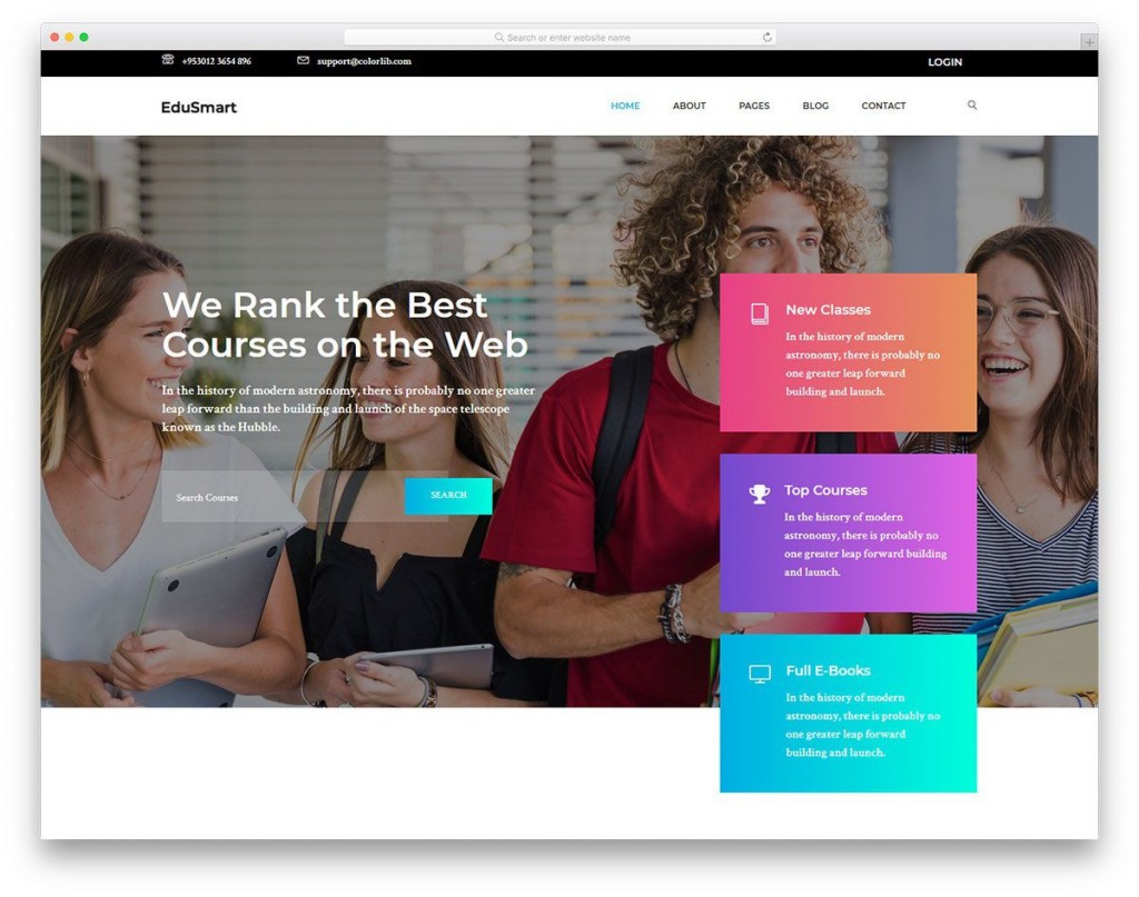 003 Astounding School Website Html Template Free Download Image  Responsive With Cs JqueryLarge