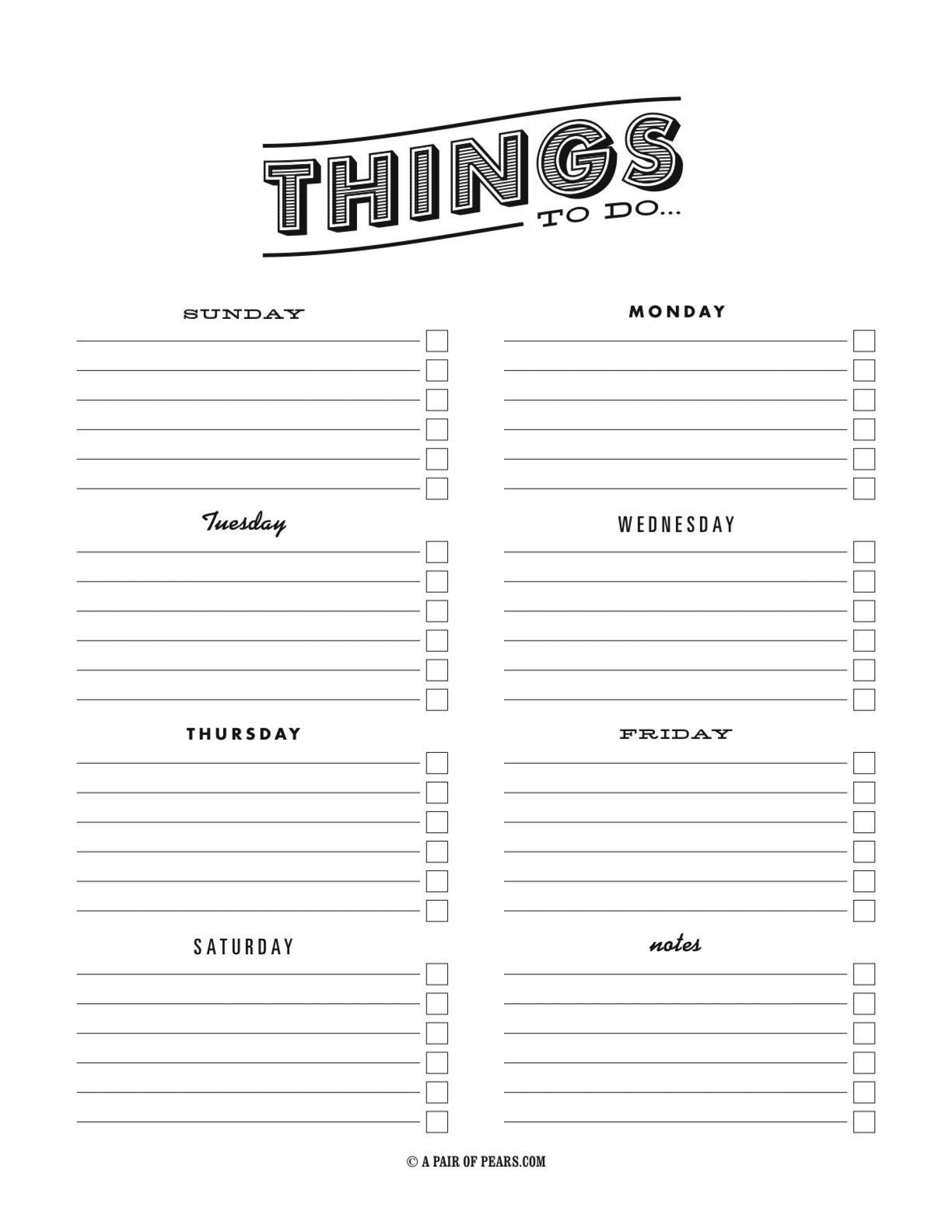 003 Astounding Thing To Do List Template Design 1920