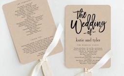 003 Astounding Wedding Program Fan Template High Def  Free Word Paddle Downloadable That Can Be Printed