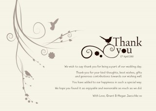 003 Astounding Wedding Thank You Card Template High Definition  Photoshop Word Etsy320