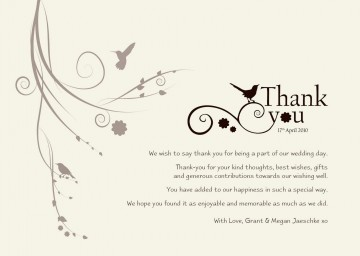 003 Astounding Wedding Thank You Card Template High Definition  Photoshop Word Etsy360