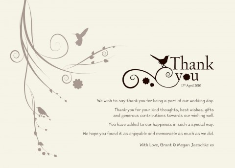 003 Astounding Wedding Thank You Card Template High Definition  Photoshop Word Etsy480