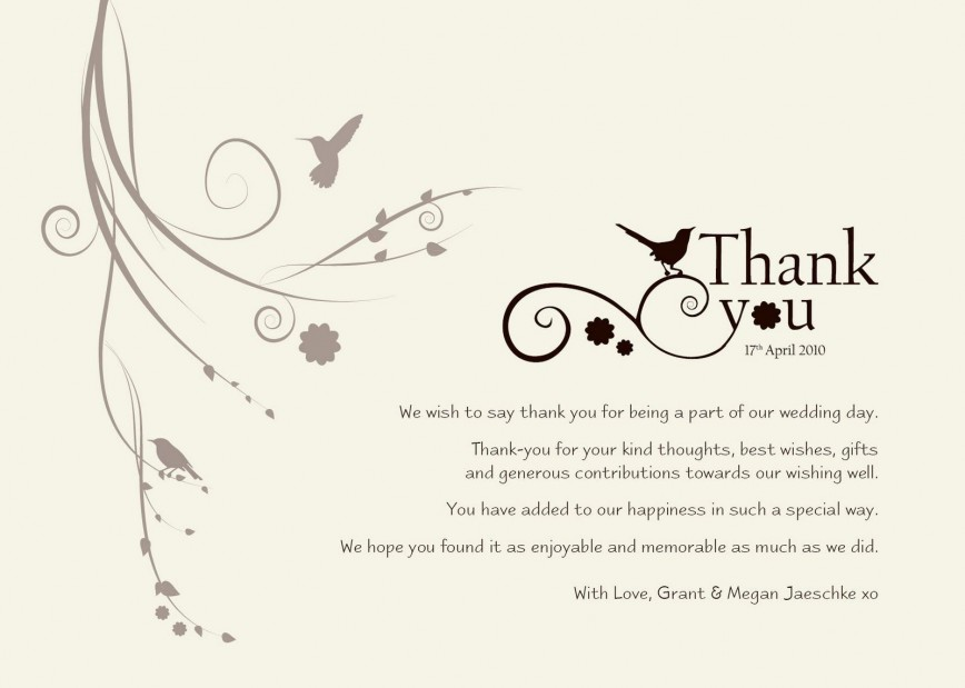 003 Astounding Wedding Thank You Card Template High Definition  Free Photoshop For Money Photo