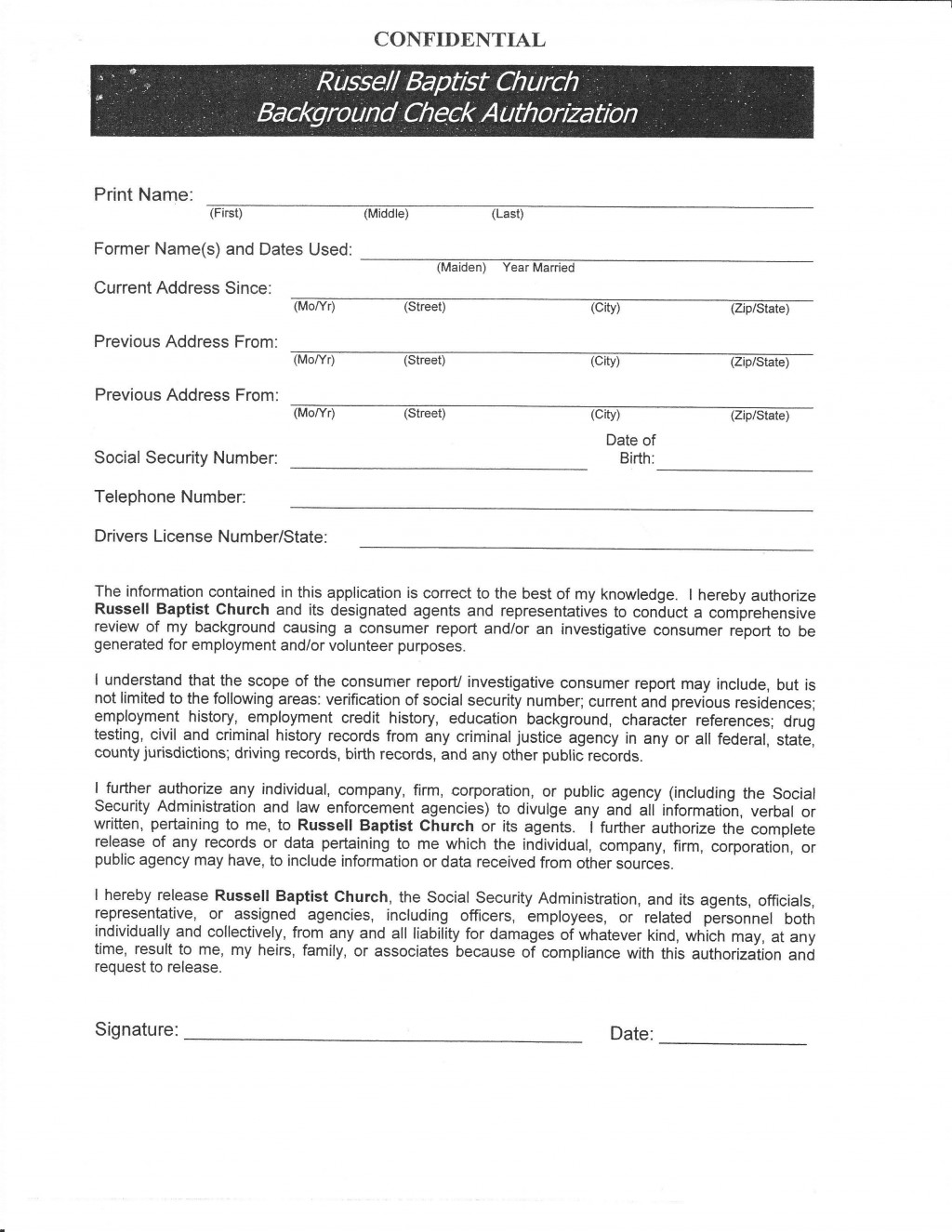 003 Awesome Background Check Form Template Free High Def  AuthorizationLarge
