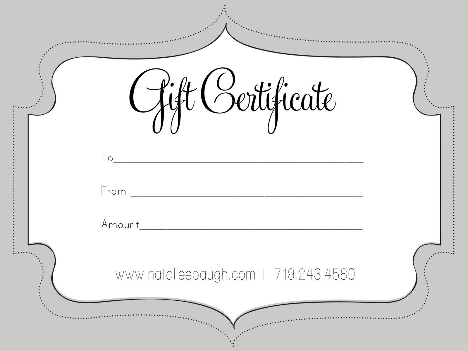 003 Awesome Blank Gift Certificate Template High Def  Free Printable DownloadableFull