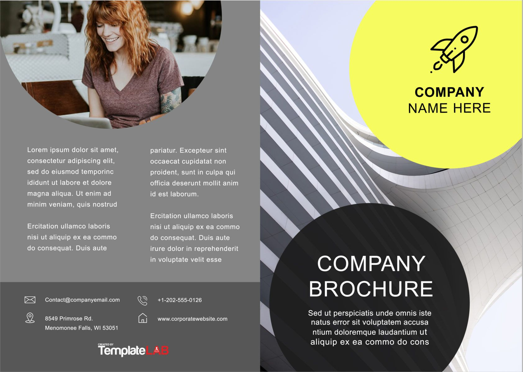 003 Awesome Brochure Template For Word High Def  Online Layout Tri Fold MacFull