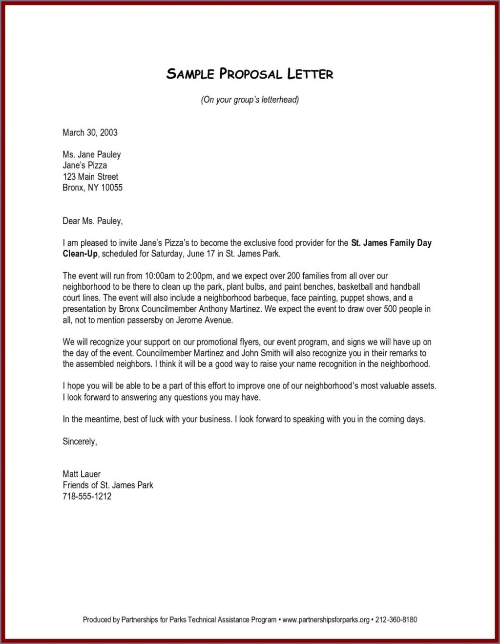 003 Awesome Busines Proposal Letter Template Example  Free DownloadLarge