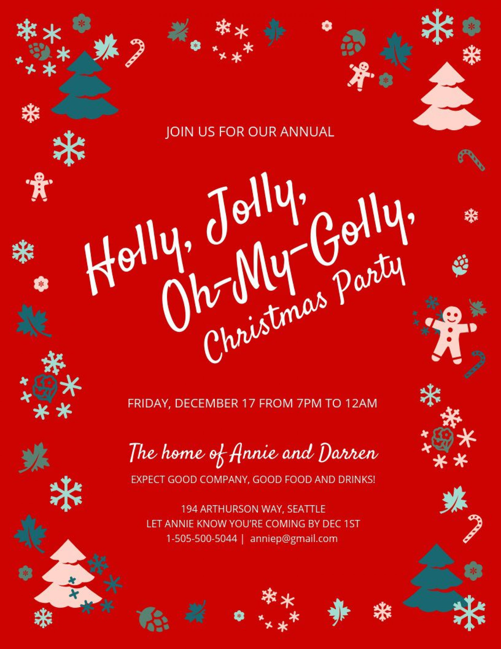 003 Awesome Christma Party Invitation Template Highest Clarity  Holiday Download Free Psd1920