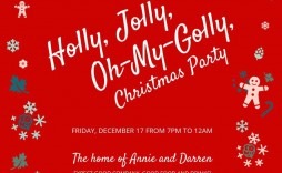 003 Awesome Christma Party Invitation Template Highest Clarity  Holiday Word Free Microsoft Editable