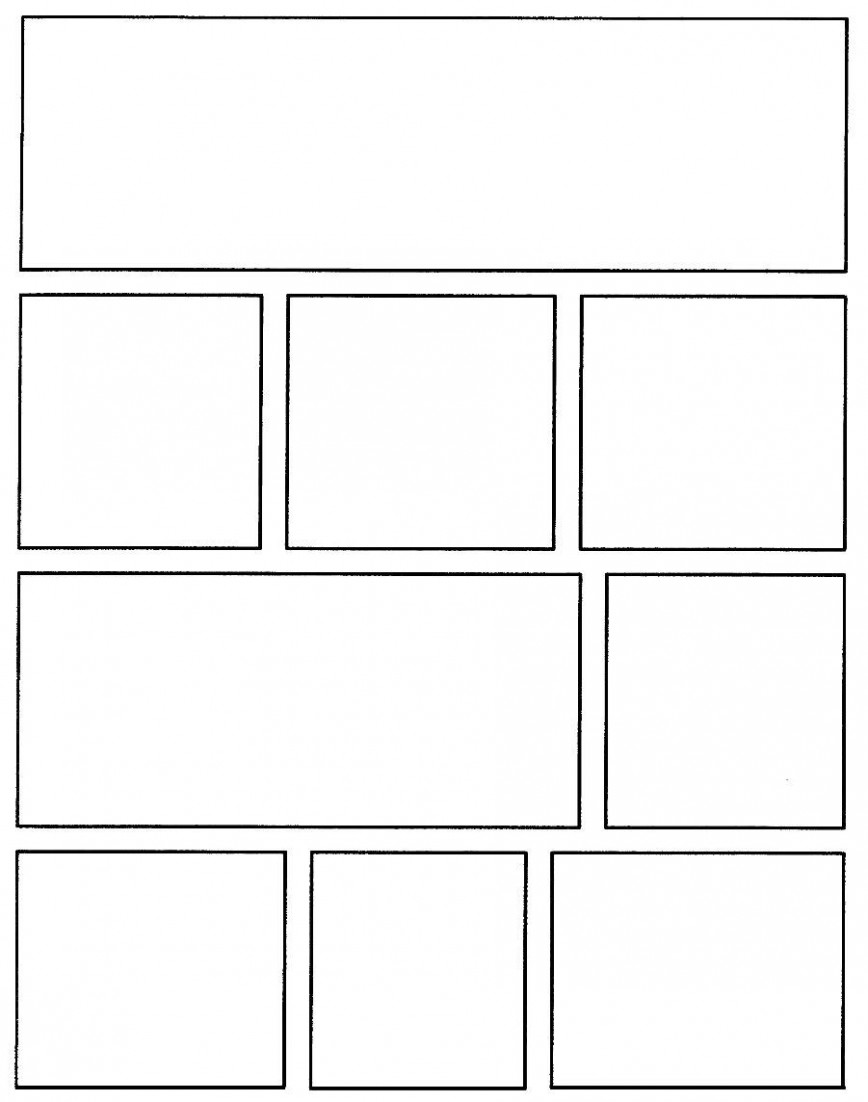 003 Awesome Comic Strip Template Word Sample  Doc Book Microsoft